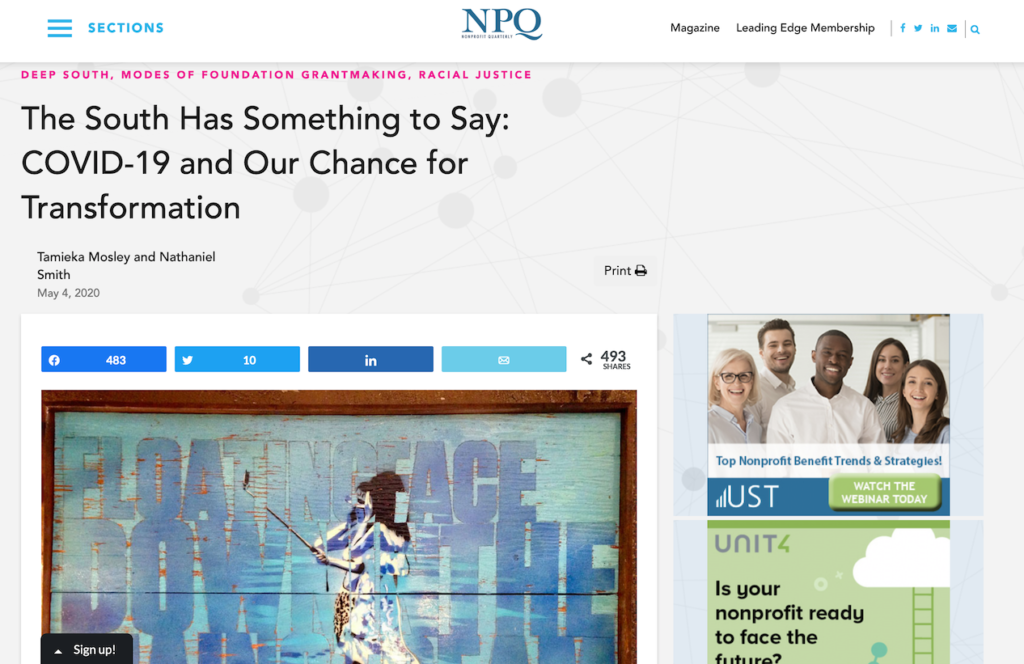 Op-ed published in Nonprofit Quarterly, May 4, 2020